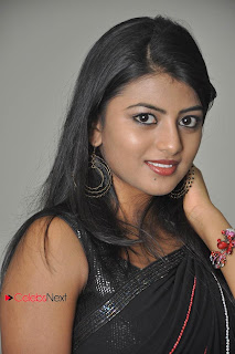 Haasika Picture Gallery in Black Saree at Prema Katha Chitram Audio Release Function  0003.jpg