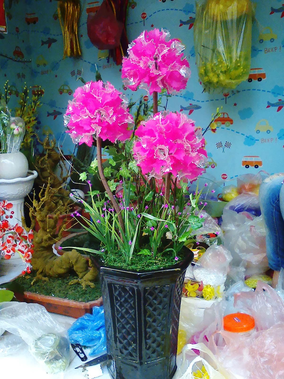 Toàn Quốc - Hoa pha lê. hoa voan nghệ thuật đẹp giá rẻ