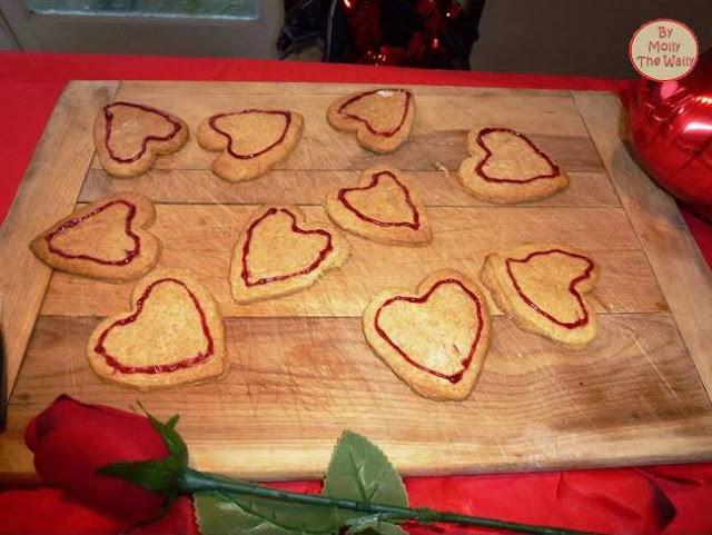 Molly The Wally says, make a start and show some art on my heart shaped cookies.12