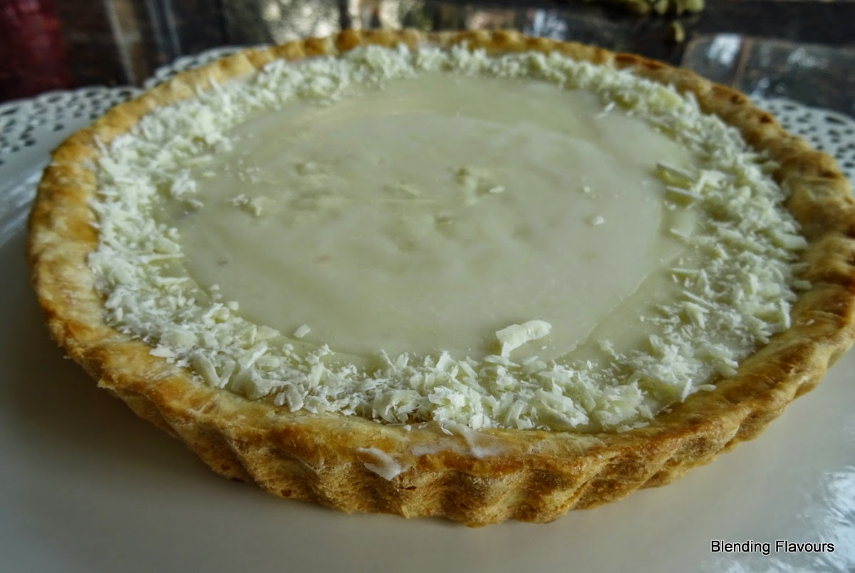 White Chocolate & Cardamom Tart
