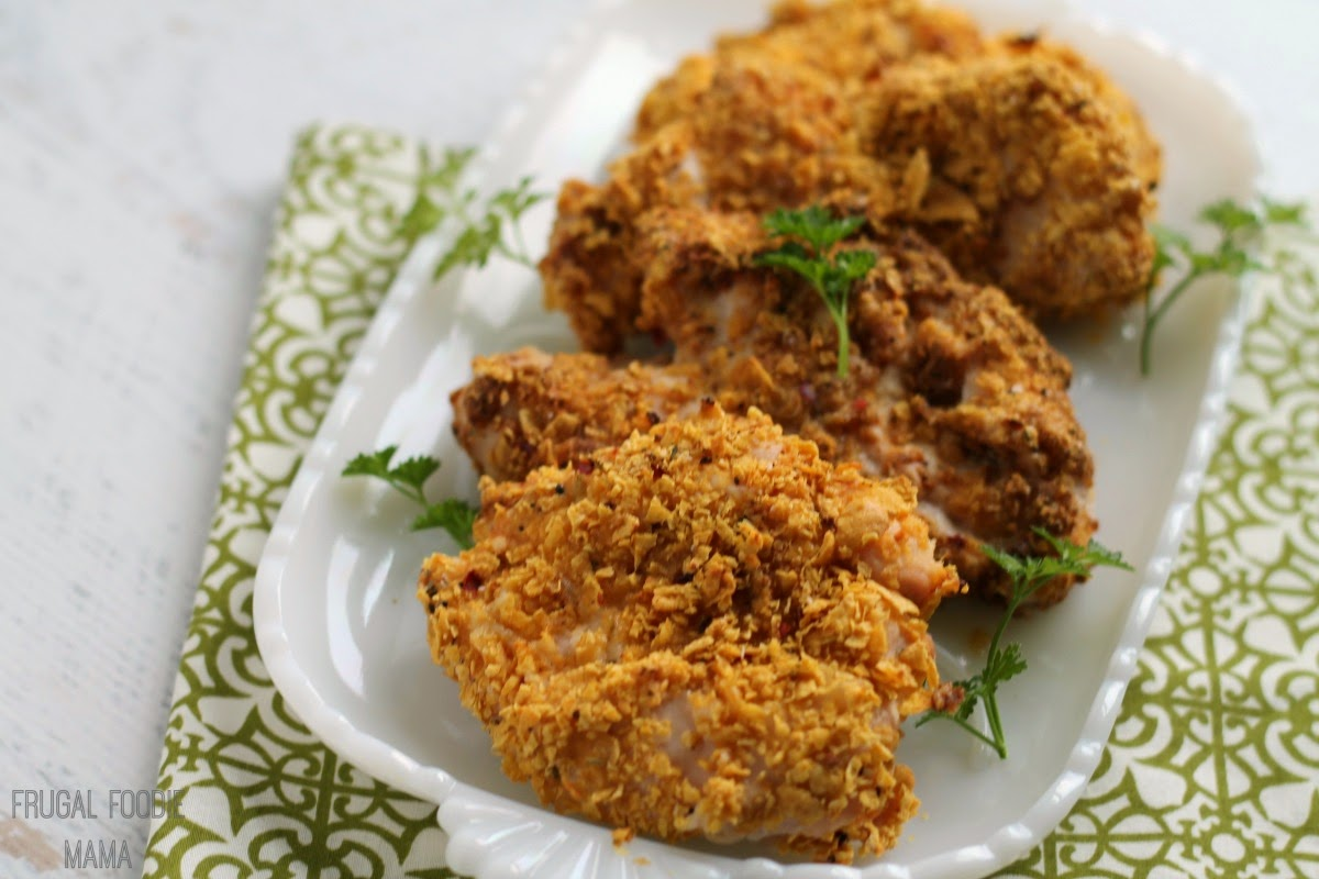 Skinny Fried Chicken- flavorful fried chicken with less fat and far fewer calories