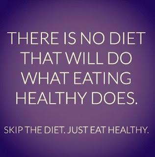 no diet just eat healthy