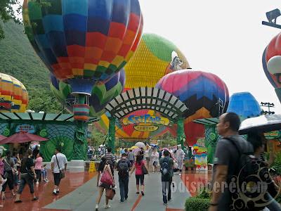Ocean Park colorful Sky Fair