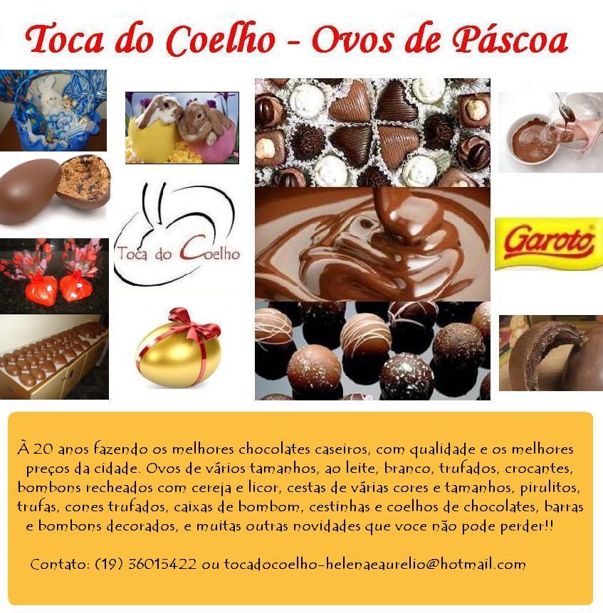 Toca do Coelho - Ovos de Páscoa