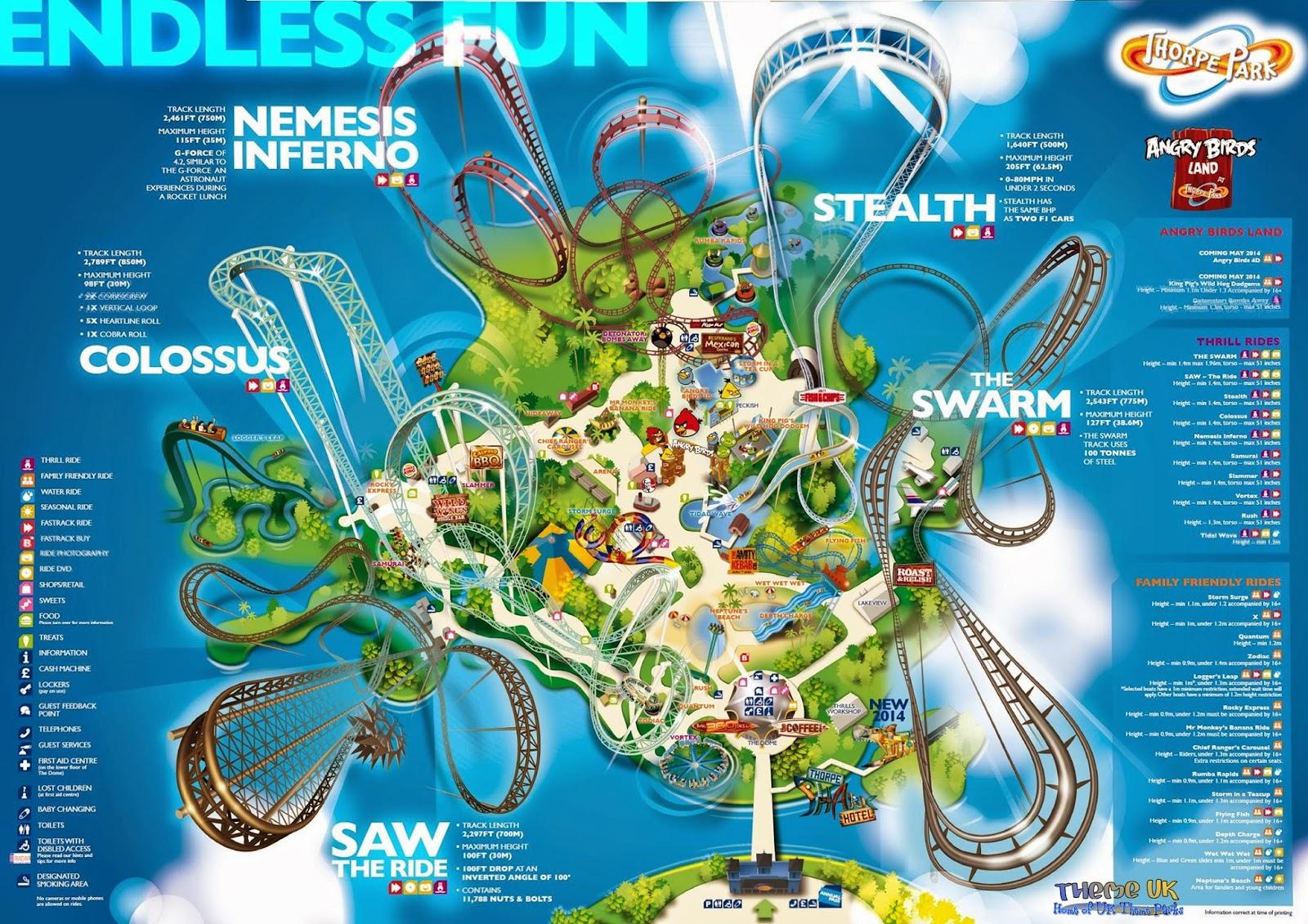 Thorpe Park, Map, My Life My Son My Way,