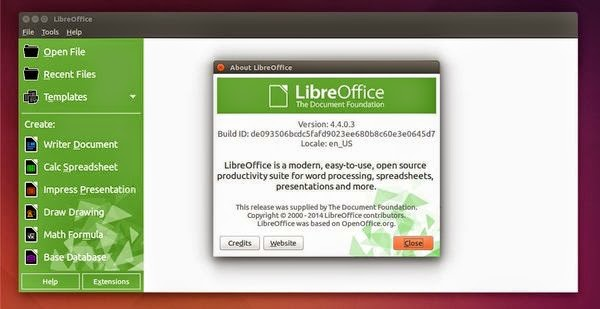 Libre Office 4.4 no Ubuntu