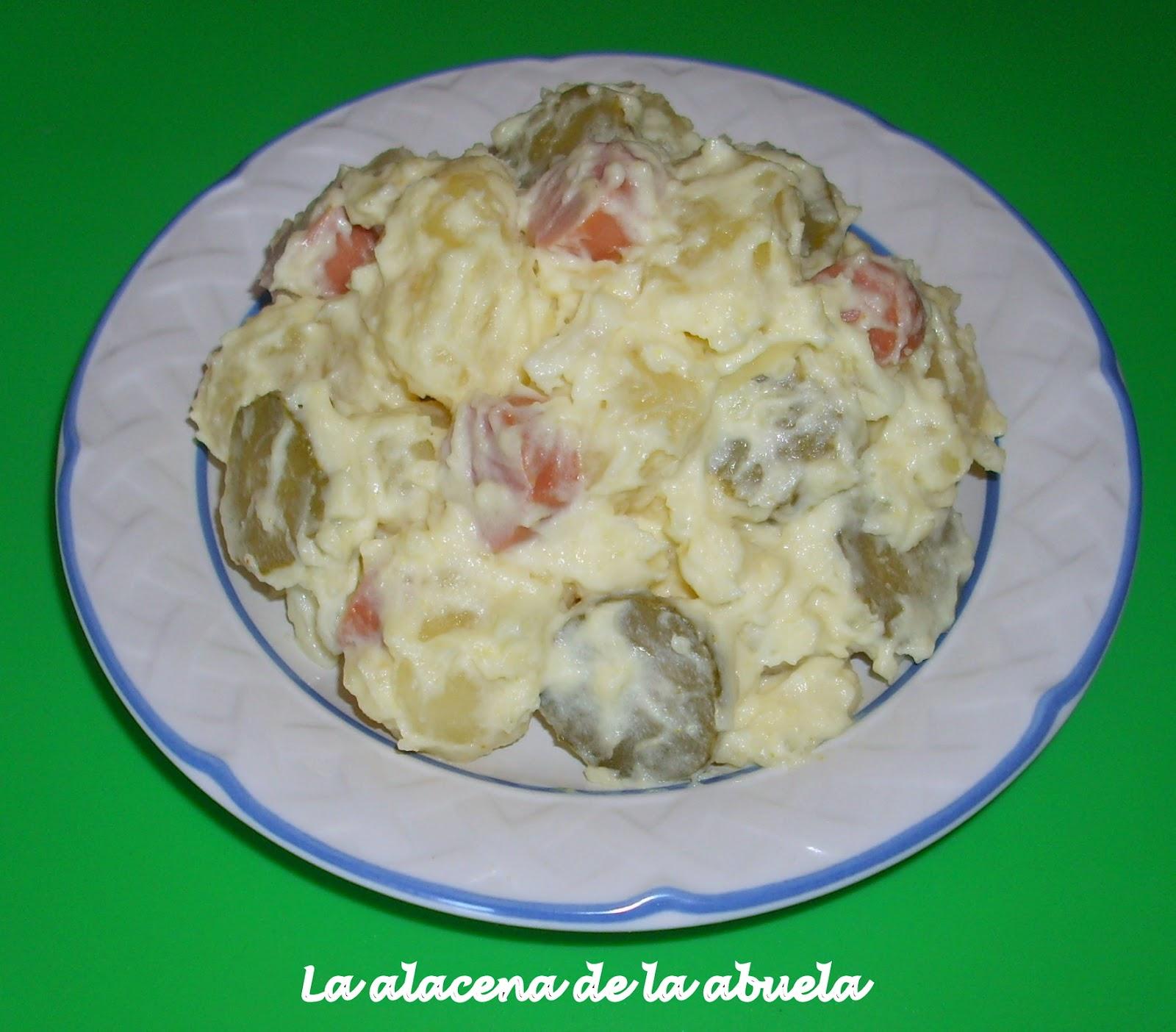La alacena de la abuela carmen kartoffelsalat o ensalada - Ensalada alemana de patatas ...