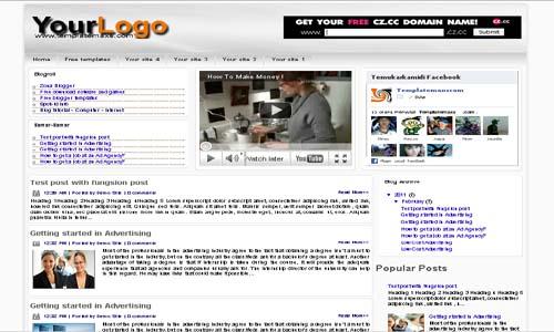 Samar-Samar Blogger Template