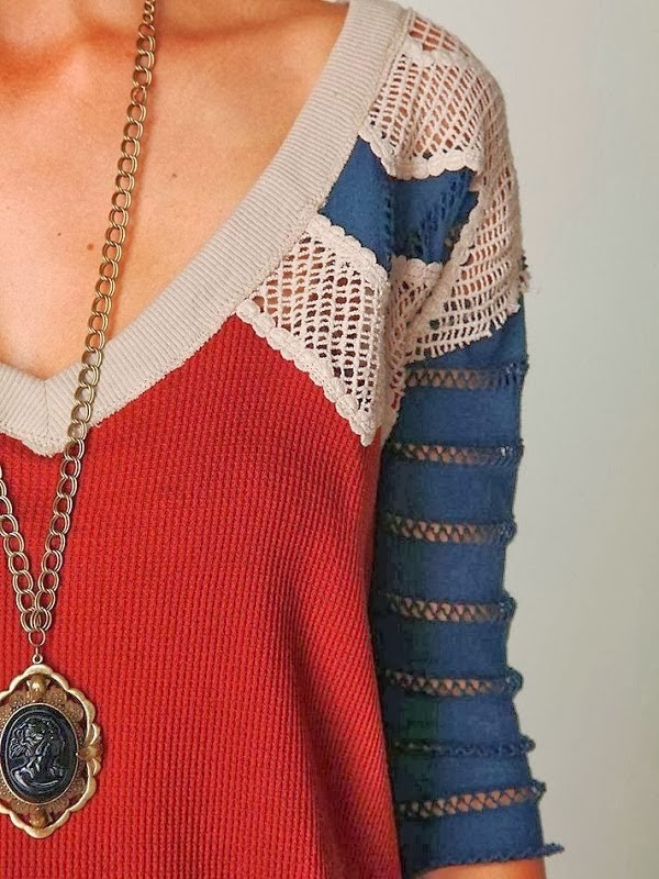 Colorful and Adorable V-Neck Sweater Shirt with Necklace