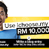 Giveaway iChoose.MY - RM10,000 and FREE Domain For You All Bloggers!