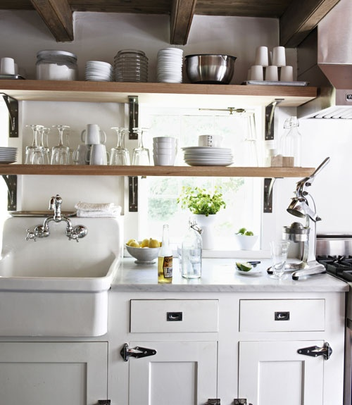 Kitchen Cabinets Or Open Shelving We Asked An Expert For: The Granite Gurus: Whiteout Wednesday: 5 White Kitchens