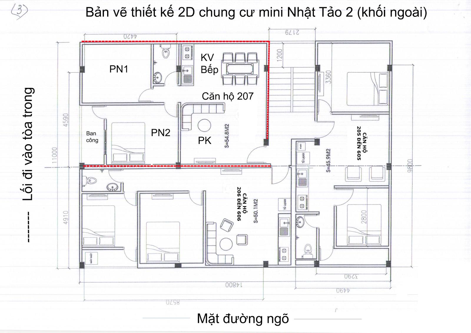 Bán chung cư mini Từ Liêm giá rẻ nhất Hà Nội 46m2/600 triệu- Có sổ hồng