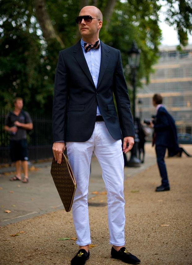 Men White Pants