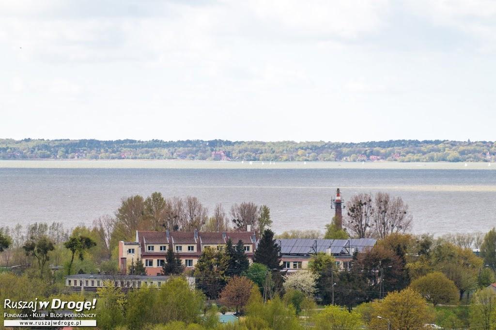 Takie widoki z wieży w Tolkmicku