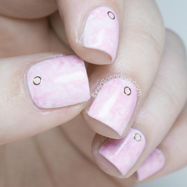 Pink Acid Wash Nail Art Inspired by Asos