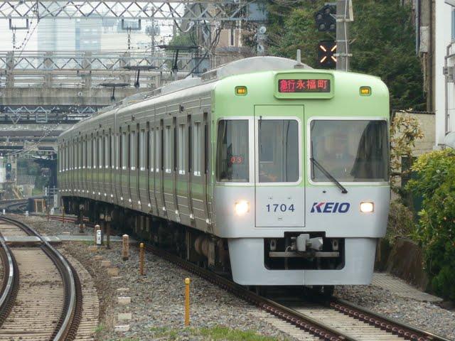 京王電鉄 急行 永福町行き 1000系1~4次車ライトグリーン