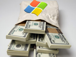 In addition to an increased dividend of 5 cents from the previous quarter, Microsoft announced a program of share buyback up to 40 billion dollars.