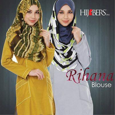 Rihana Blouse. Didatangkan Dengan 4 Size Yang Berbeza Iaitu S, M, L &XL