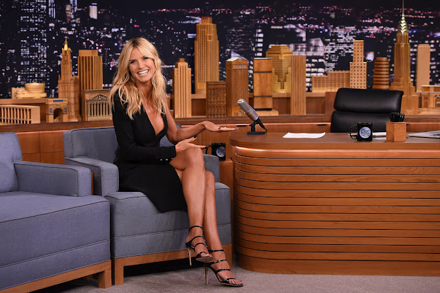 "Actress, Television Host, Model @ Heidi Klum - on ""The Tonight Show Starring Jimmy Fallon"" in NYC,"