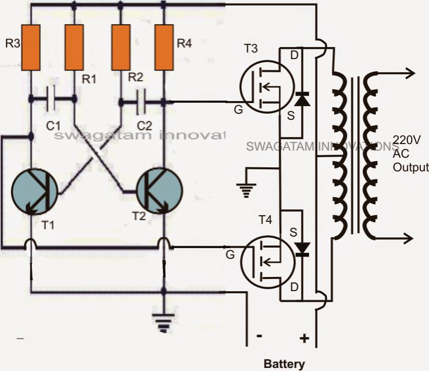 Mini 50 Watt Mosfet Inverter Circuit