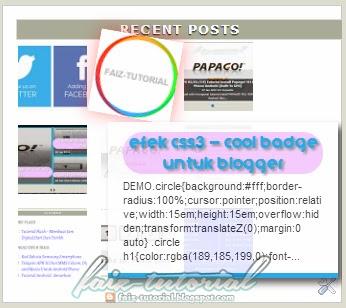 """""""Recent Posts Widget"""" Dengan """"Thumbnails"""" Untuk Blogger"""