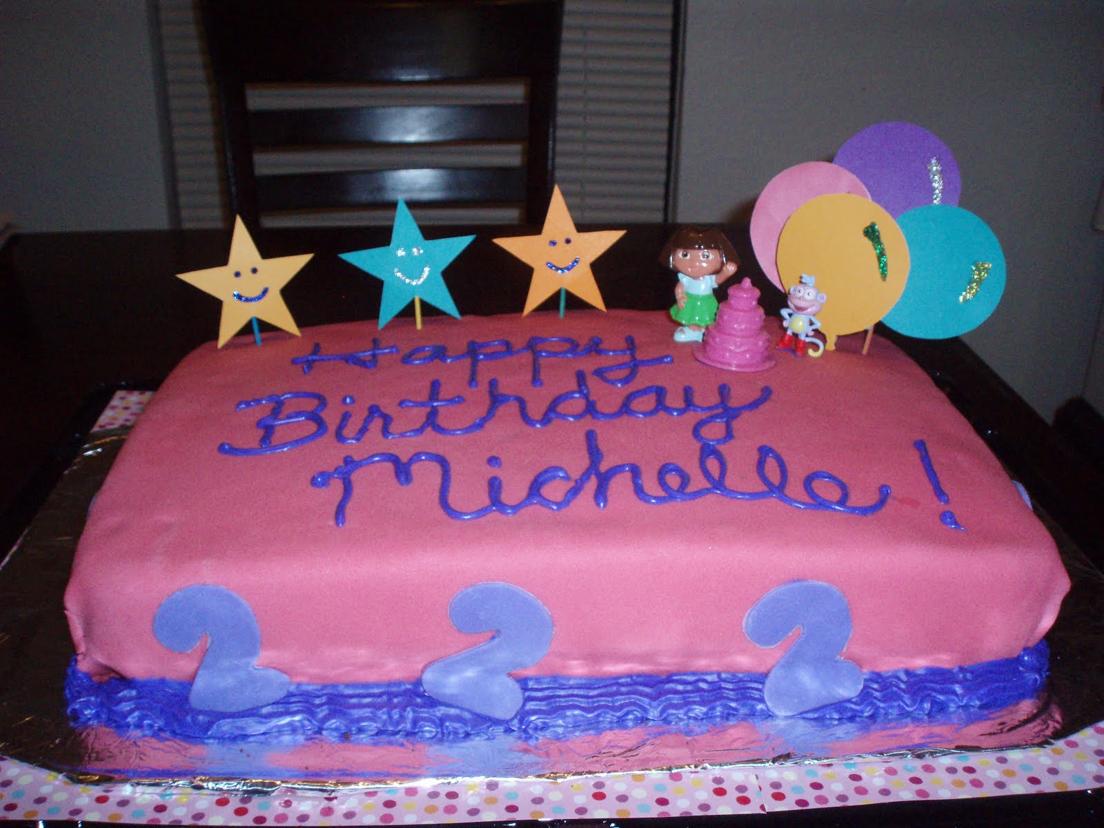 Children S Birthday Cakes By Michele Pictures : Free Cakes for Kids Killeen: Dora for Michelle.