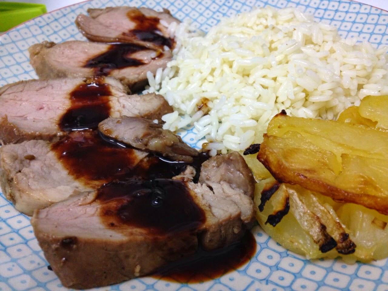 Solomillo de cerdo laqueado cooking and disfruting for Como preparar solomillo