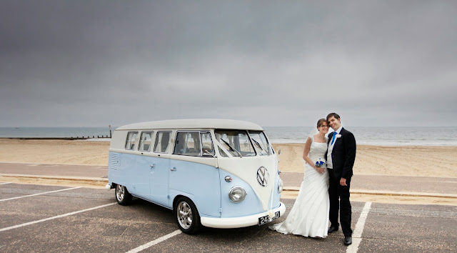 Bournemouth beach dorset dub vw camper van royal bath wedding