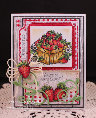 Our Daily Bread Designs, Fancy Foliage Dies, Strawberries, Garden Mini Set, Recipe Card and Tag Dies, Cathy McCauley
