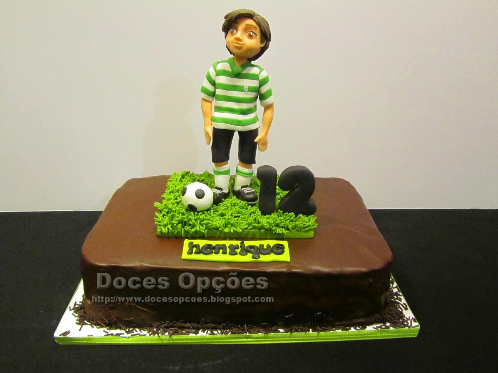 Bolo de aniversário do Henrique adepto do Sporting
