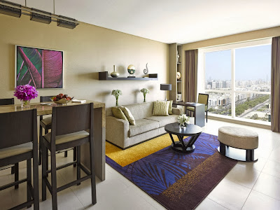 Take your pick from a selection of 534 guest rooms and serviced apartments at Dusit Thani Abu Dhabi