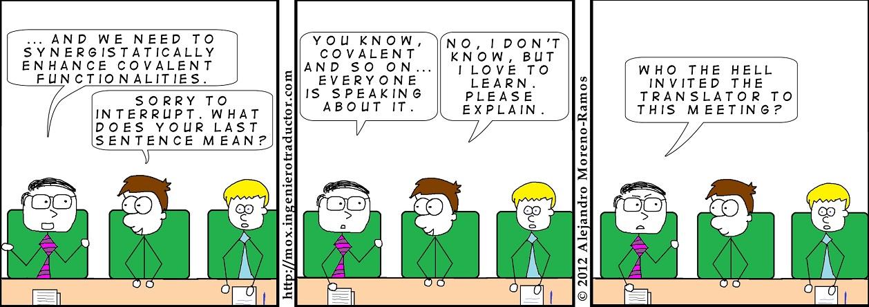 cartoon translator business jargon
