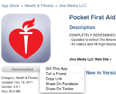 App - Pocket First Aid and CPR