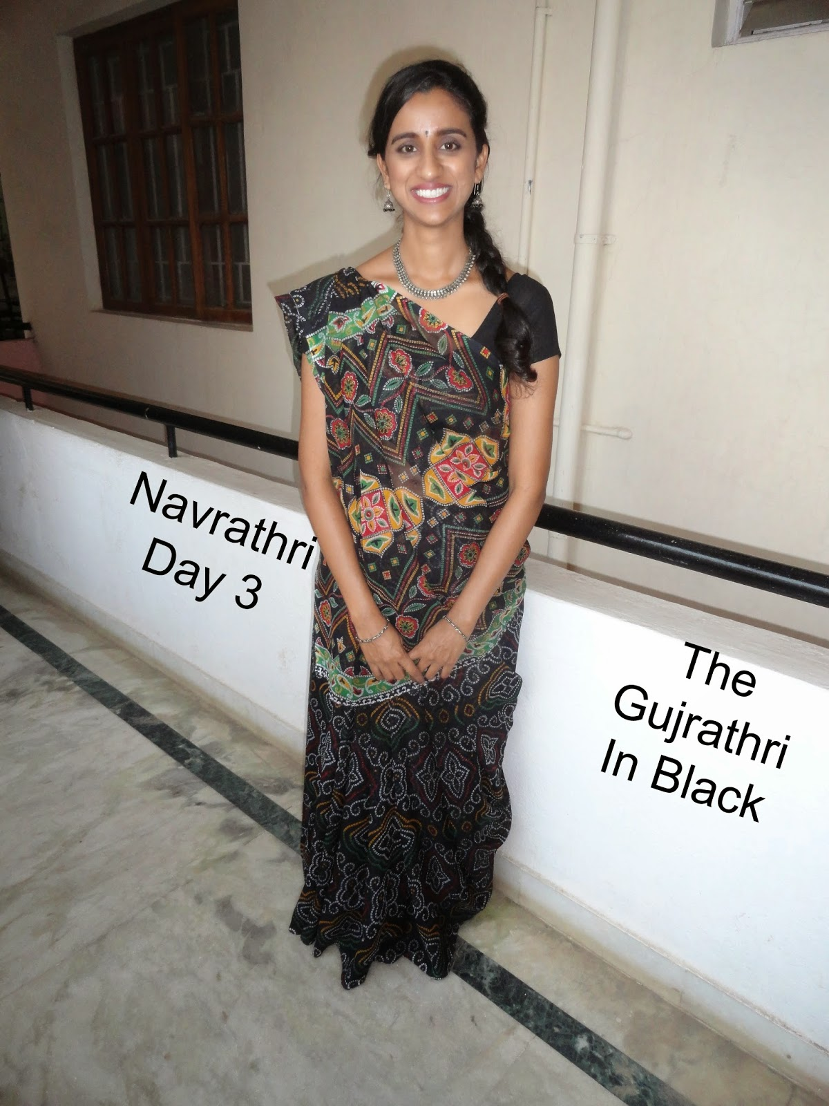 Navrathri Day 3: The Gujrathi in Black image