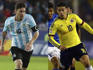 Argentina vs Colombia en cuartos de final, Copa América 2015