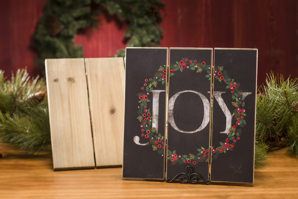 Slat Wood Joy Wall Decor @craftsavvy @sarahowens #craftwarehosue #christmas #diy #sign