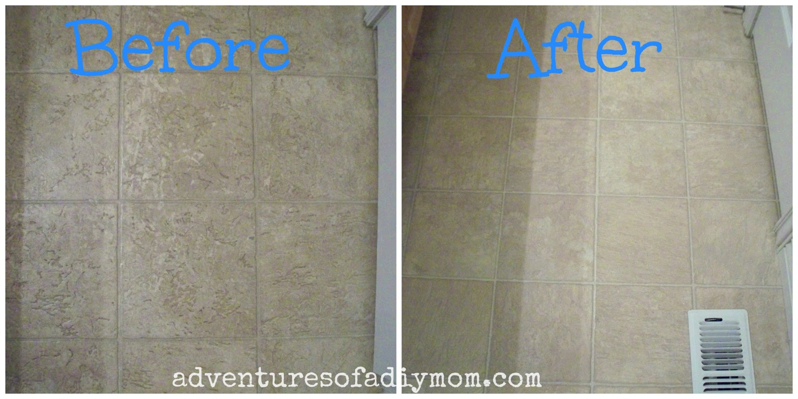 Cleaning white floor tiles
