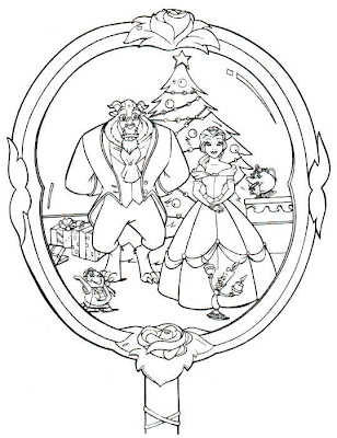 Beauty And The Beast Coloring Page