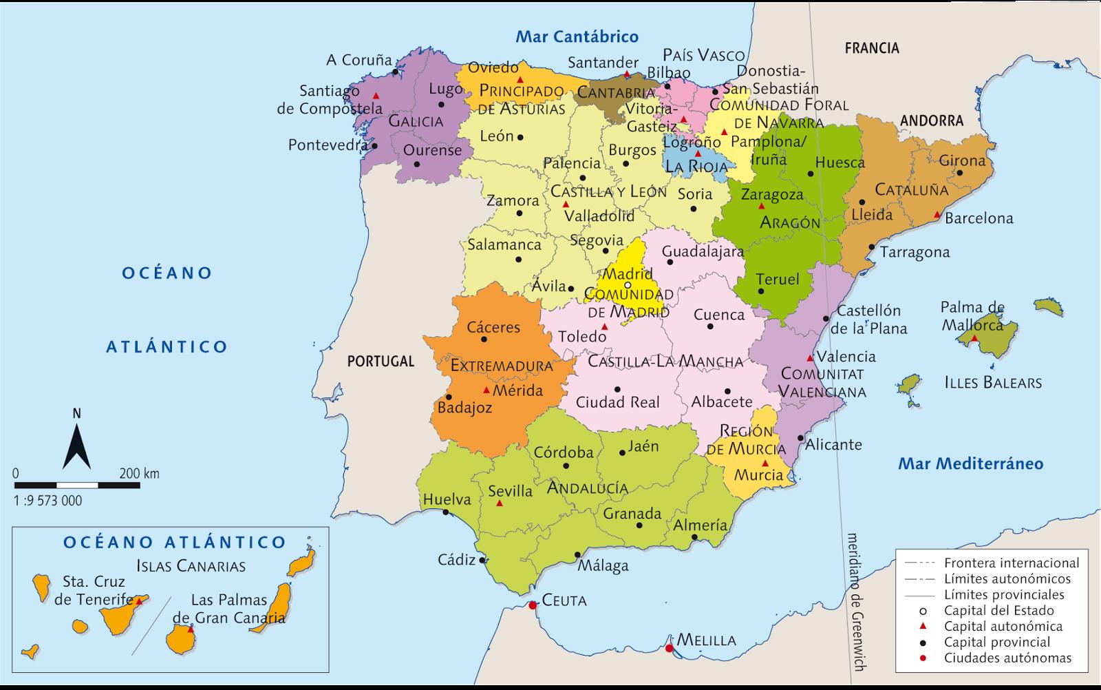 Mapa De Espaa Politico