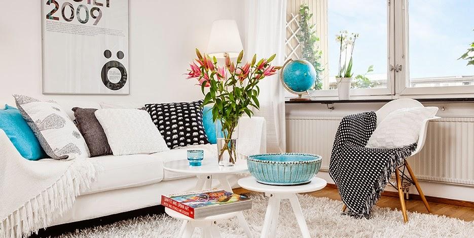 Sala De Estar Azul Turquesa ~ House tour  Sala e cozinha com detalhes azul turquesa ~ Ás nove em