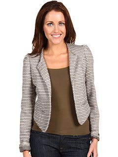 Striped Boucle Blazer