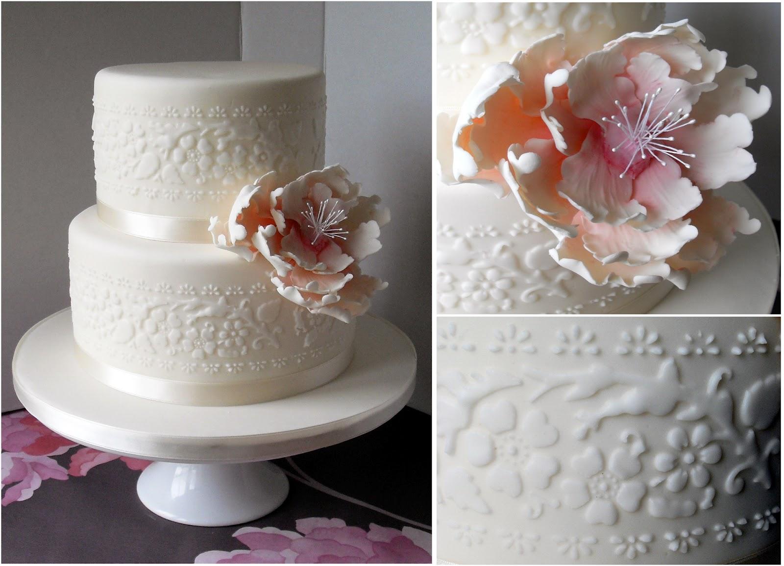 Open Peony Wedding Cake - Peony Wedding Cake