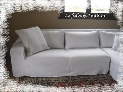 Le fiabe di tuassan il bianco che illumina - Copridivano per divano in pelle con chaise longue ...