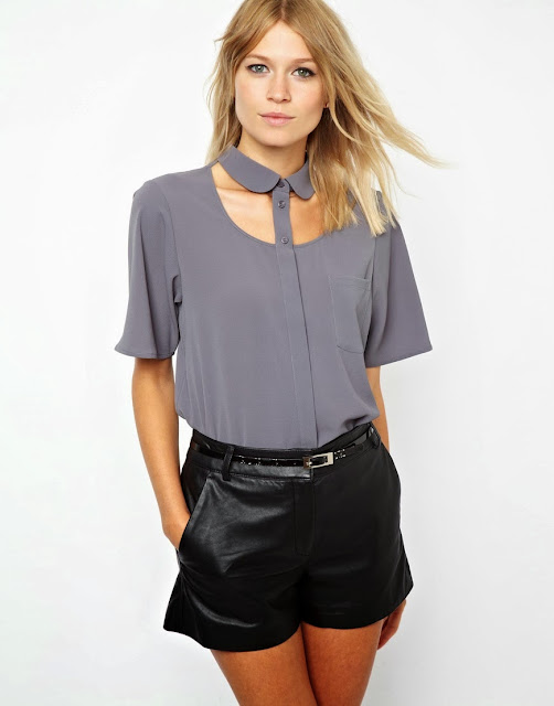 cutout blouse