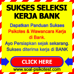 Soal Psikotes Bank Bca Bri Bukopin Mandiri Mega