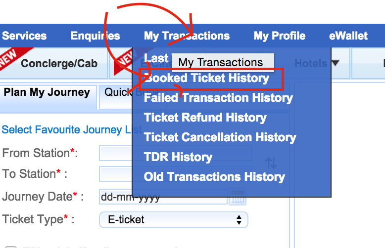 irctc ticket cancellation partially or fully
