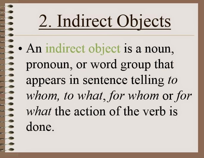 GWA Fourth Grade Blog Grammar Direct and Indirect Objects – Indirect Objects Worksheet