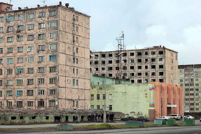 Bairro em Norilsk, região de Krasnoiarsk