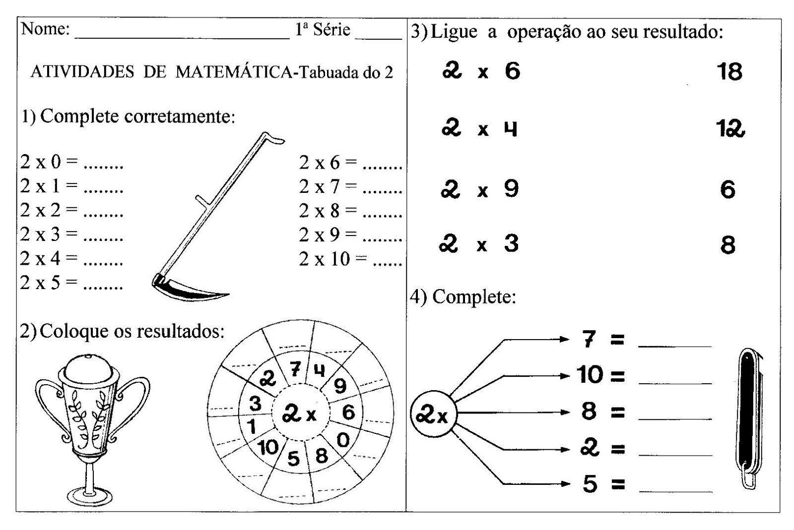 ATIVIDADES MATEM  TICA 3   ANO FUNDAMENTAL EXERC  CIOS IMPRIMIR  XIII