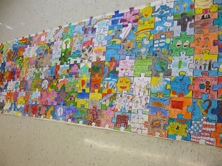 """Mrs. Rice's Art Class: The East Woods Puzzle """"Peace"""" Project"""